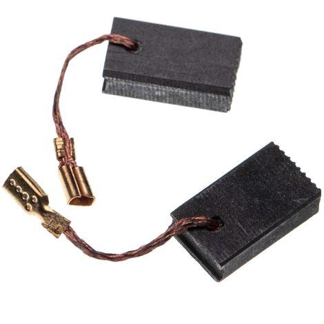 vhbw 2x balai de charbon pour moteur électrique 5 x 10 x 17mm compatible avec Bosch GWS 14-150 CI, GWS 1400, GWS 15-125 CIEH outil électrique