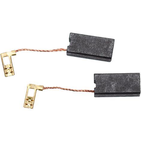 vhbw 2x Balais de charbon pour moteur 7 x 12,5 x 26mm compatible avec Hilti TE 70-AVR, TE 80, TE 80-ATC, TE 80-AVR marteau piqueur