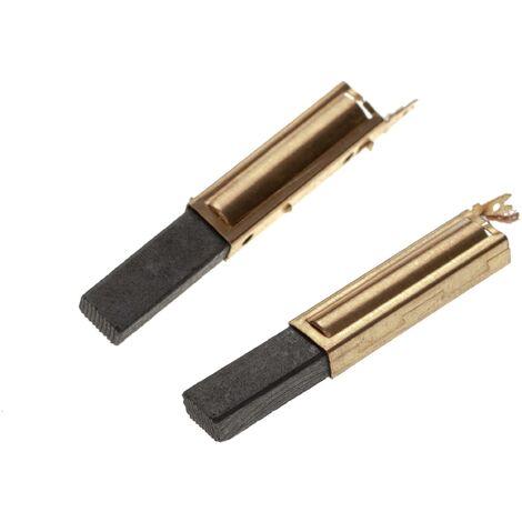 vhbw 2x Balais de charbon pour moteur électrique 6,3 x 11 x 28mm compatible avec Domel 586-2, 778-5 aspirateur