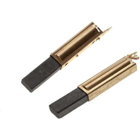 vhbw 2x Balais de charbon pour moteur électrique 6,3 x 11 x 28mm compatible avec Festo / Festool CTL 22 E, 22 E SG, 33 E, 33 E SG, 33 LE aspirateur