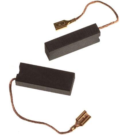 vhbw 2x Balais de charbon pour moteur électrique 6,3 x 11,2 x 29mm remplace Husqvarna 508.043.705 pour tondeuse à gazon