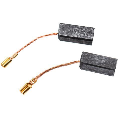 vhbw 2x Balais de charbon pour moteur électrique 6,5 x 8 x 18mm compatible avec Hilti TE 12, TE 12S, TP 90 marteau piqueur