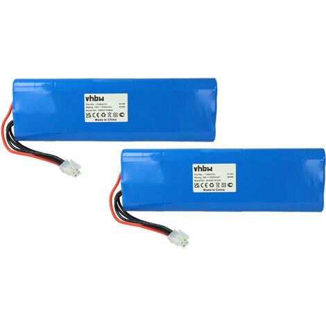 vhbw 2x Batería compatible con Husqvarna Automower 210AC, 210C, 220AC, 230ACX, 260ACX, G2 (2004-2006), SH, ... cortacésped (NiMH, 3000mAh, 18V)