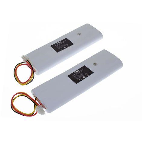 vhbw 2x Batería compatible con Husqvarna Automower 210AC, 210C, 220AC, 230ACX, 260ACX, G2 (2004-2006), SH,... cortacésped (NiMH, 4500mAh, 18V)