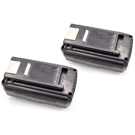 vhbw 2x Batterie Li-Ion 4000mAh (36V) pour outils électriques Powertools Tools Ryobi RLM36X40H50, RLM36X46H5P, RLM36X46L50HI, RLT36B33, RLT36C3325