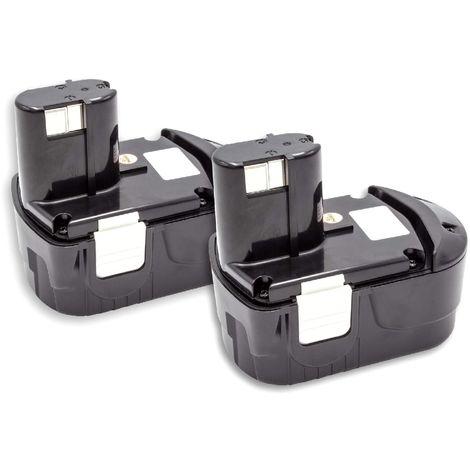vhbw 2x Batterie NiMH 1500mAh (18V) pour les outils électriques tels que les outils électriques Hitachi EB 1812S