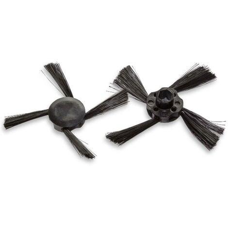 vhbw 2x brosse latérale de rechange compatible avec Neato Botvac Connected robot aspirateur - lot de brosses de nettoyage, noir