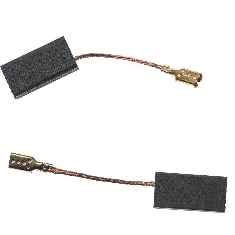 2x Carbon Brush Motor Brush 15,5 x 8 x 5mm compatible with Bosch GWS 6-115 (0 601 375 0V6) power tool - Vhbw