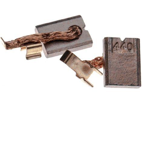 vhbw 2x Carbon Brush, Motor Brush 3 x 10 x 13,4mm suitable for Makita DDF458, DFR550, DFS451, DHP446, DHP448, DHP451 power tool