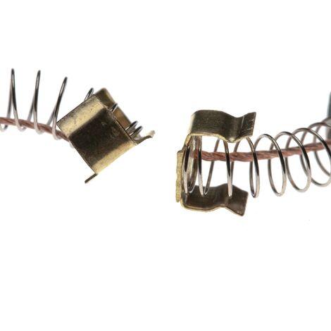 "vhbw 2x Carbon Brush, Motor Brush 6 x 9 x 12mm suitable for Makita 4351FCT, 6310, 6407, 6408, 6408K 3/8"", 6821, 6823 power tool"