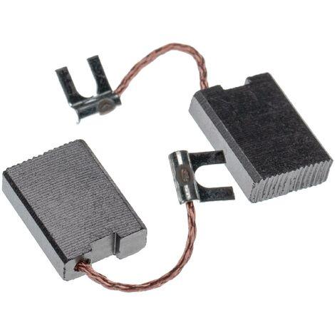 vhbw 2x Carbon Brush, Motor Brush 6,3 x 15 x 22mm suitable for Bosch 0601333..., 0601339..., 11304.0, 1333, 1340, GSH 27 power tool