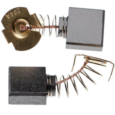 vhbw 2x Carbon Brush, Motor Brush 7 x 18 x 16mm suitable for Makita GA 9020 R, GA7010C, GA7020, GA7020S, GA7030, GA7030S power tool