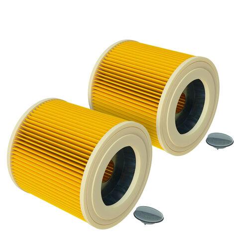 vhbw 2x Cartouche filtrante compatible avec Kärcher A 2014 CarVac, A 2054 ME, A 2064 PT, A 2074 PT, A 2105, A 2120 ME, A 2224, A 2231 PT