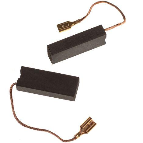 vhbw 2x Escobilla de carbono 6,3 x 11,2 x 29mm compatible con Husqvarna Automower 315, 317, 318, 320, 321 cortacésped