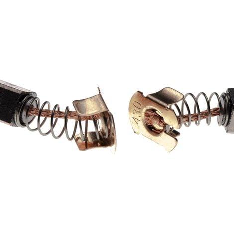 vhbw 2x Escobilla de carbono 7 x 7,3 x 11mm compatible con Makita DCO180, DGA452, DHR164, DHR165, DJS161 herramientas eléctricas