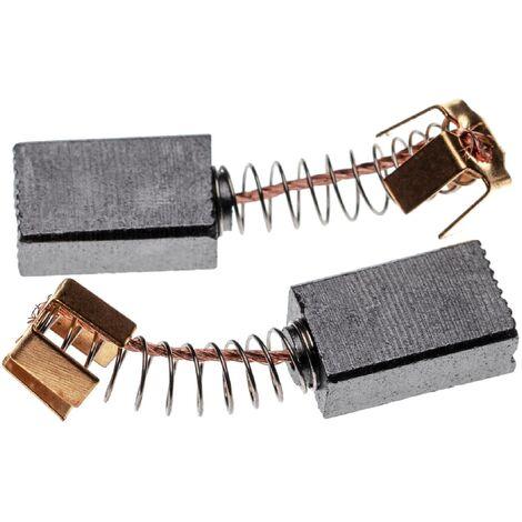 vhbw 2x Escobillas, carbonos, escobillas de carbono 6 x 10 x 16mm compatible con Makita 1911B, 3620, 8406, HP2010N, JR3010, MT361, RP0900 herramientas
