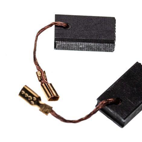 vhbw 2x Escobillas de carbono 5 x 10 x 17mm compatible con Bosch GWS 14-125 CIE, GWS 14-125 CIT, GWS 14-150 C herramientas eléctricas