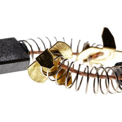 vhbw 2x Escobillas de carbono 5 x 11 x 16,4mm compatible con Makita HM0860C, HM1100C, HM1140C, HR3000C, HR4000C herramientas eléctricas