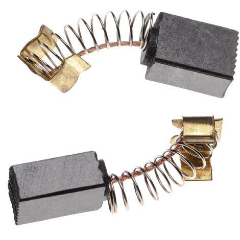 vhbw 2x Escobillas de carbono 6 x 9 x 12,5mm compatible con Makita FS4200TP 4, FS6200, FS6200TP, HP1200, HP1500, HP1501 herramientas eléctricas