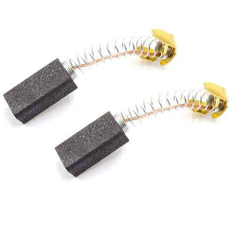vhbw 2x Escobillas de carbono, escobillas motor 6mm x 8mm x 18mm para herramientas por ej. de AEG, AtlasCopco, Black&Decker, Dewalt, Einhell