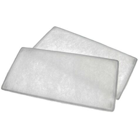 vhbw 2x filtre à air G4 remplace Helios 09613 pour Ventilateur de salle de bain, appareil de ventilation (1x filtre à air pollué, 1x intake filter)