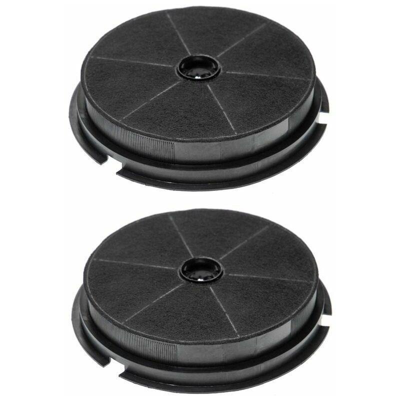 2x Filtre à Charbon Actif compatible avec Hotpoint Ariston AH 61 T, AH 61 TX, AH 62 TX, HHE 90 FIX, HR 60 TIX, HR 90 TIX Ho - Vhbw