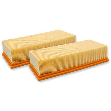 vhbw 2x filtre à plis plats pour aspirateur à liquide/à sec compatible avec Hilti VC 300