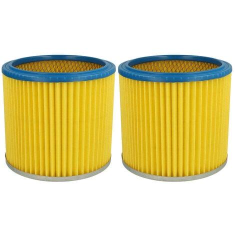 vhbw 2x Filtre rond / filtre en lamelles pour aspirateur Aqua Vac 8203 B, 8503, 8504, 8524, 8204, 8500, 8502, 95035, 90035