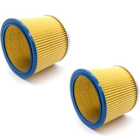 vhbw 2x Filtre rond / filtre en lamelles pour aspirateur Einhell BT-VC 1250 S, 1250 SA, 1500 SA, 1600 E