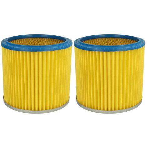 vhbw 2x Filtre rond / filtre en lamelles pour aspirateur, robot, aspirateur multifonctions Metabo ASA 9001
