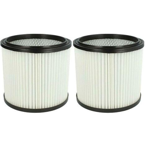 vhbw 2x filtre rond pour aspirateur multifonction compatible avec Aldi Workzone aspirateur à liquide et nettoyeur à sec