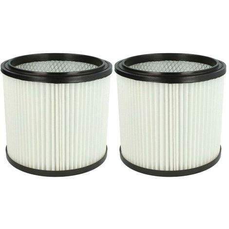 vhbw 2x Filtre rond pour aspirateur multifonction compatible avec Metabo ASA 9001 remplacement pour 6.904-042.0, NT RU-30.1