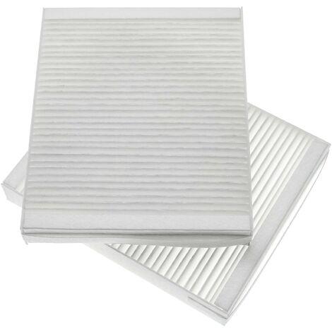 vhbw 2x filtres à air F7 remplace Lunos 040110 pour Ventilateur de salle de bain, appareil de ventilation (filtre à air pollué, filtre d'air entrant)