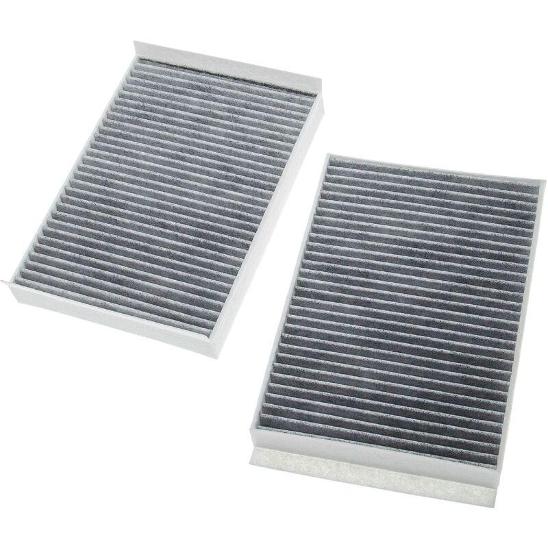 vhbw 2x Filtres d'habitacle charbon actif remplacement pour Unico Filter ACK 2631-2 pour voiture