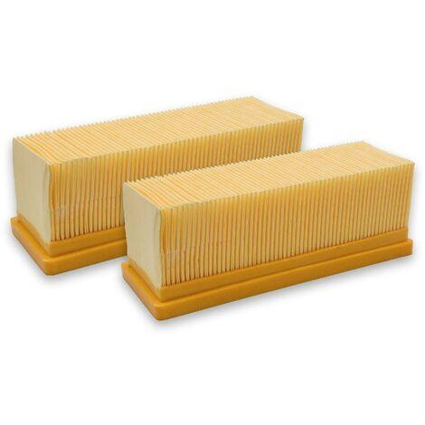 2x-lamelle//filtro a pieghe per EINHELL TE-VC 2230 INOX 1250 INOX 1300 Plus