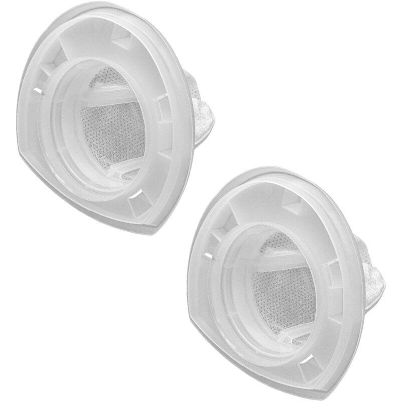 vhbw 2x Filtro compatible con Black & Decker Dustbuster DV9610ECN, DV9610N, DV9610NF, EV1210N aspiradora filtro de polvo fino