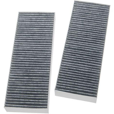 vhbw 2x filtro de carbón activado compatible con Bora series BFIU, series BHU, series BIU extractor de cocina -34 x 12,2 x 4,25cm