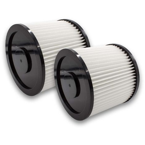 vhbw 2x Filtros redondos compatibles con MAUK NTS aspiradora de agua y seco 30l 1200W, NTS aspiradora de agua y seco 20l 1200W