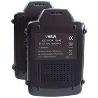 vhbw 2x Li-Ion Batterie 1500mAh pour outils électroniques, visseuse AL-KO Tondeuse à gazon GTLi, Tondeuse GTLi 18V Comfort. Remplace: Worx WA3512.