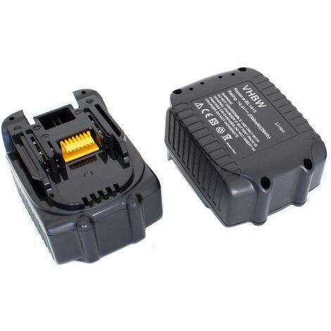 vhbw 2x Li-Ion batterie 2000mAh (14.4V) pour outil électrique outil Powertools Tools comme Makita BL1415