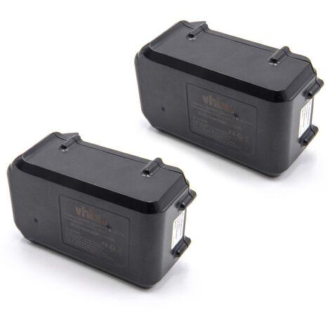 vhbw 2x Li-Ion batterie 3000mAh (36V) pour outil électrique outil Powertools Tools Dolmar AM-3643 batterie de tondeuse
