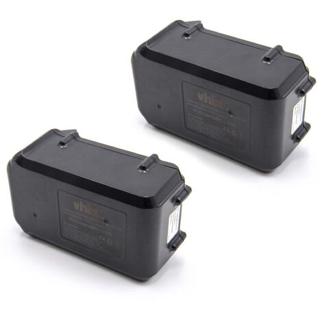 vhbw 2x Li-Ion batterie 3000mAh (36V) pour outil électrique outil Powertools Tools Makita BUH650Z, BUX361, BUX361RDE, BUX361Z, MBC231DRD Lawnmower