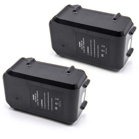 vhbw 2x Li-Ion batterie 4000mAh (36V) pour outil électrique outil Powertools Tools Dolmar AC-3600 batterie de débroussailleuse, taille-haie AH-3666