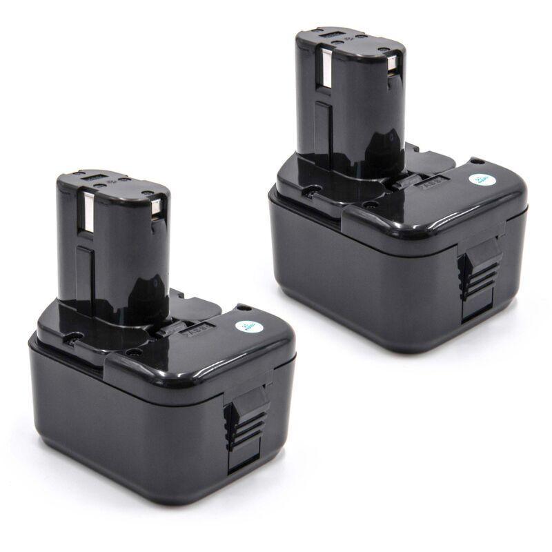 vhbw 2x Ni-MH batterie 2100mAh (12V)pour outils Hitachi C 5D, C5D, CD 4D, CD4D, CL 13D, CL13D remplace Hitachi 320386, 320387, 320388, 320606, 320608.