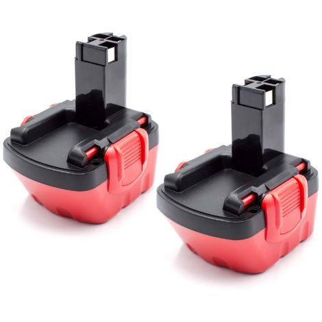 vhbw 2x NiMH batería 1500mAh (12V) para herramienta eléctrica powertools tools Bosch GSR 12V, JAN-55, PAG 12, PSB 12 VE-2, PSR 12, PSR 12VE