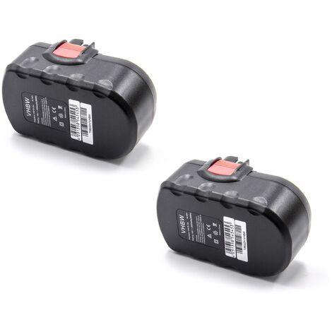 vhbw 2x NiMH batería 2000mAh (18V) para herramienta eléctrica powertools tools Bosch GST 18 V, PSB 18 VE 2, PSR 18 VE-2