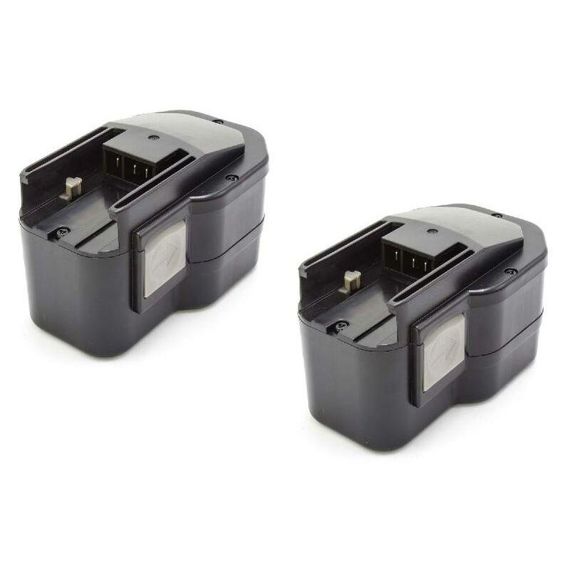 2x NiMH batterie 1500mAh (14.4V) pour outil électrique outil Powertools Tools comme Milwaukee 0514-24, 0514-52, 0516-20, 0516-22, 0516-52,0612-20