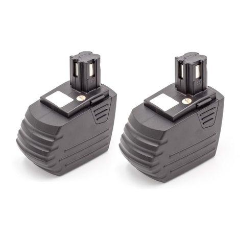vhbw 2x NiMH batterie 1500mAh (15.6V) pour outil électrique outil Powertools Tools comme Hilti SFB155