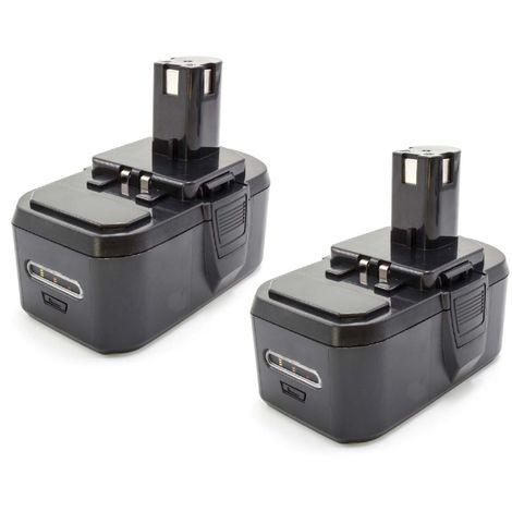 vhbw 2x NiMH battery 1300mAh (18V) for electric power tools Ryobi BID-1801M, BID-180L, BID-1821M, BID1821, BIW180, BIW180M