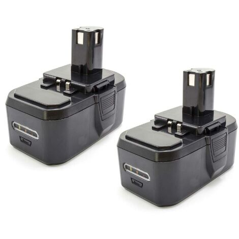 vhbw 2x NiMH battery 1300mAh (18V) for electric power tools Ryobi P234, P240, P2400, P241, P246, P250, P2500, P2600, P300, P301